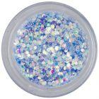 Paiete albastru-oţel în pulbere - hexagoane de 1mm