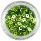 Pătrate hologramă, cu gaură - verde deschis