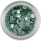 Confetti hologramă, cu gaură - pătrate albastru-oţel