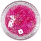 Decoraţiune pentru unghii - pătrate cu gaură, roz deschis