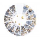 Decorațiuni nail art – strasuri mix – aurii