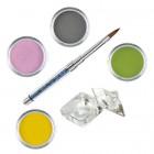 Set Pure II - Kit acrilic colorat de pudre acrilice pentru unghii