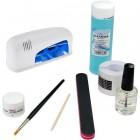 Set Basic gel UV - sistem monofazic cu lampă UV albă 9W