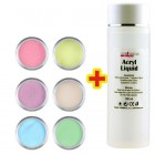 Set culori pastel 6buc + lichid acril 100ml GRATIS