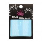 Stickere pentru unghii cu model alb