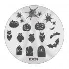 Șablon ștampilare  DXE09 - Halloween