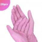 Mănuși de unică folosință roz M/20buc