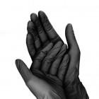 Mănuși negre L / 10 buc