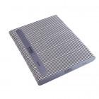 50buc - Pilă de unghii, gri cu centru negru, lavabilă și dezinfectantă 100/180