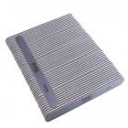 50buc - Pilă de unghii, gri cu centru negru, lavabilă și dezinfectantă 150/150