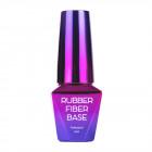 Gel de modelare UV / LED Rubber Fiber Base - Clear, 10ml