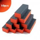Pilă unghii cu trei fețe, negru-portocaliu 100/100 - 10buc