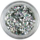 Confetti lacrimă - argintiu, hologramă