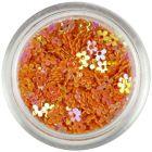 Flori portocalii cu găuri - reflexii colorate