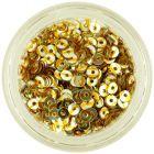 Paiete nail art în formă de disc, argintii cu dungi aurii