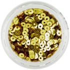 Paiete nail art rotunde, aurii, în formă de disc