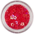 Confetti decorativ - stele roşii