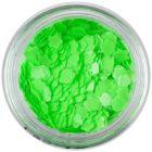 Confetti decorativ - flori verde neon