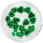 Ornamente pentru unghii – trandafiri verzi din ceramică