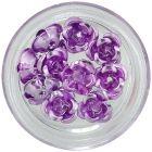 Trandafiri mov deschis din ceramică, 10 buc