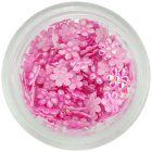 Flori din material – roz deschis sidefii