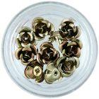Decorațiuni ceramice pentru unghii - trandafiri maro