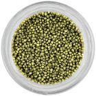 Decorații pentru unghii - perle verzi ca iarba, 1 mm