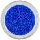 Decorații pentru unghii - perle albastre, 1 mm