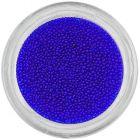Decorații pentru unghii - perle 0,5mm, albastru închis