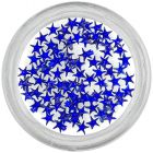 Strasuri albastru regal pentru unghii - stele
