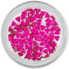 Strasuri unghii - triunghi, roz-zmeură