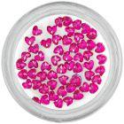 Strasuri unghii - inimi, roz