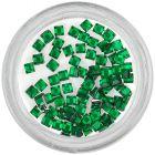 Strasuri pătrate - verde-smarald