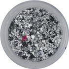 Fulgi de sclipici argintiu - mic