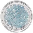 Flori perlate - decorațiuni nail art, bleu