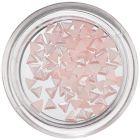 Triunghiuri perlate pentru decorarea unghiilor - roz deschis