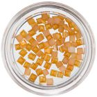 Pătrate pentru decorarea unghiilor - galben-portocaliu  perlat